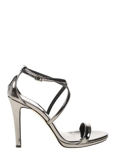 Bambi İnce Topuklu Ayakkabı Gümüş